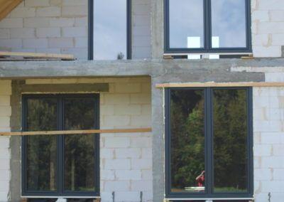 Okna IGLO 5 trzyszybowe antracyt gładki