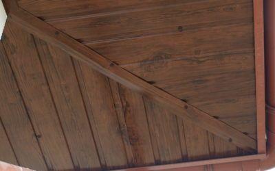 NOWOŚĆ – podbitka dachowa w kolorze ciemny orzech