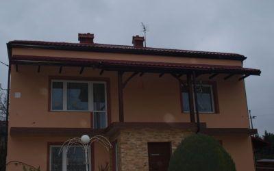 Montaż systemu rynien ciągłych i podbitki dachowej