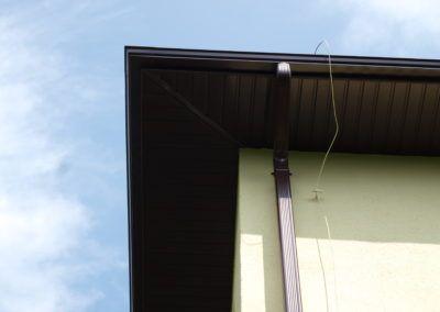 Podbitka dachowa, system rynien ciągłych