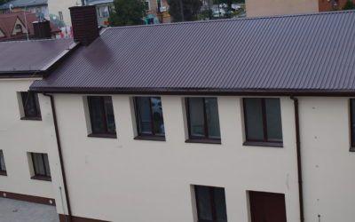 Wymiana pokrycia dachowego na budynku Fabryki Ciast i Cukrów im. S. Gurgula w Jarosławiu