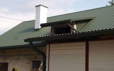 Wymiana dachu na budynku inwentarskim w Wysocku